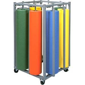 Eight Roll Portable Vertical Rack