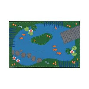 Tranquil Pond Carpet, 4' x 6'