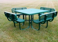 Champion Square Table with Benches