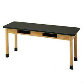 Laminate Top Hardwood Science Table w/ Book Compartments