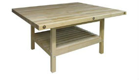 Four Person Work Bench, Solid Maple Top