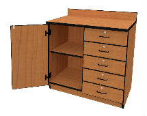 Illusions 7232 Base Cabinet with Lckng Door and Drawers