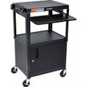 Extra Large Adjustable Height AV Cart