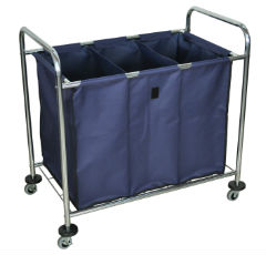 Industrial Laundry Cart with Dividers