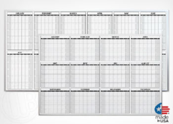 Marsh 12-Month Calendar Board, 4' x 8'