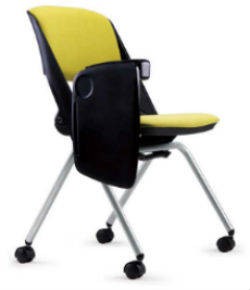 OAR 4-Leg Nesting Chair with Tablet Arm
