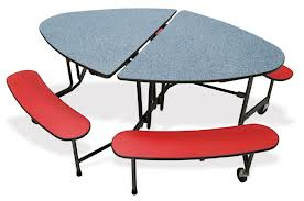 Oval Table with Bench Seating