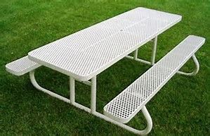 Free Standing 8 Foot Rectangle Picnic Table