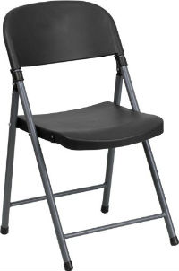 Plastic Folding Chair with Steel Frame
